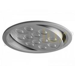 Bodové svítidlo Panlux VÝKLOPNÝ PODHLED KULATÝ 12LED, stříbrná (aluminium) - teplá bílá (KVL-12T/AL)