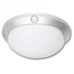 Kruhové stropní svítidlo ECOLITE W121 FLAVIA W121-STR - světlo s čidlem, stříbrné, IP44, max 60W