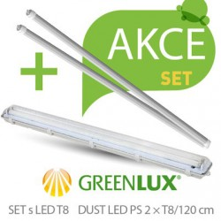 Akční set Greenlux SET DUST DAISY LED PS  2xT8 120 IP65 (GXWP264)