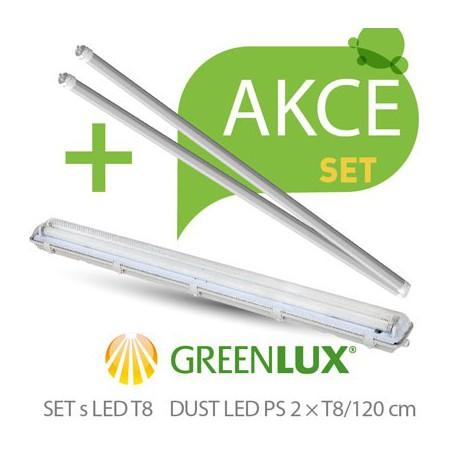 Akční set Greenlux SET DUST DAISY LED PS  2xT8 120 IP65 (GXWP264)