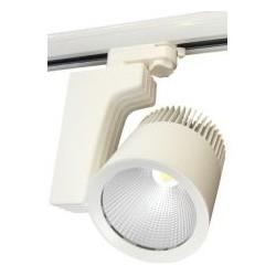 LED reflektor na lištu AURA 40W, bílá,  4100lm, neutrální bílá 4000K (884160)