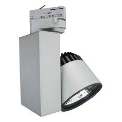 LED reflektor na lištu  38W,  3300 lm, stříbrný, teplá bílá 3000K