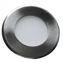 Led svítidlo vestavné Greenlux LED15 VEGA-R Matt Chrome 3W WW (GXDW209)