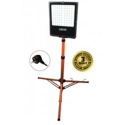 Solight LED venkovní reflektor s vysokým stojanem, 100W, 8500lm, kabel se zástrčkou, AC 230V (WM-100W-FVS)