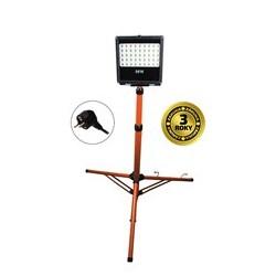 Solight LED venkovní reflektor s vysokým stojanem, 50W, 4250lm, kabel se zástrčkou, AC 230V (WM-50W-FVS)