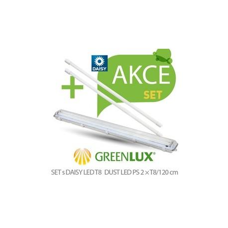 LED st Greenlux SET DUST DAISY LED PS 1xT8 120 IP65 (GXWP267)