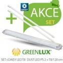 LED set Greenlux SET DUST DAISY LED PS 1xT8 120 IP65 (GXWP267)