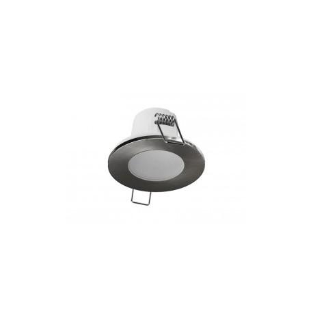 Panlux LED SPOTLIGHT IP65 5W podhled, bodovka, chrom broušený - teplá bílá