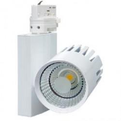 Designový LED reflektor TR-TL-20W/BI TRACK - Svítidlo na lištový syst. (3f), COB, Ecolite