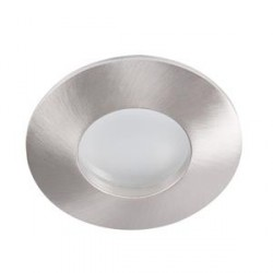 Podhledové bodové svítidlo Kanlux QULES AC O-C/M GU10 mat. chrom IP44/20 (26304)