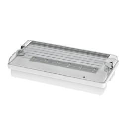 LED svítidlo nouzové FLAT 12LED Em3h DP/TP IP65 clear + piktogram NBB