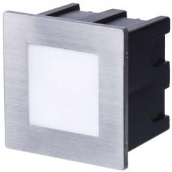 EMOS LED orientační vestavné svítidlo 80×80, 1,5W teplá bílá IP65