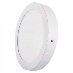 EMOS LED panel 224mm, kruhový přisazený bílý, 18W teplá bílá