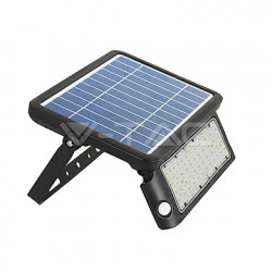 LED floodlight se solárním panelem V-TAC 10W LED Solar Floodlight Black Body 4000K, VT-787-10