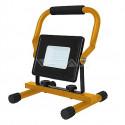 LED reflektor se stojanem V-TAC 30W LED SMD Slim Floodlight with Stand And EU Plug Black Body White, VT-4230