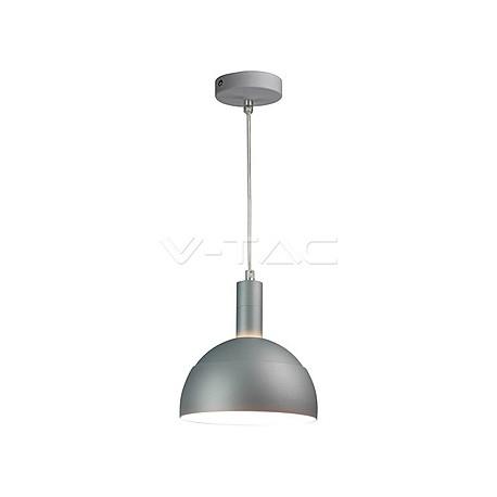 Plastic Pendant Lamp Holder E27 With Slide Aluminum Shade Grey, VT-7100