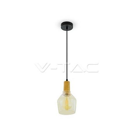 Glass Pendant Light Amber 2200K Ø135, VT-7130