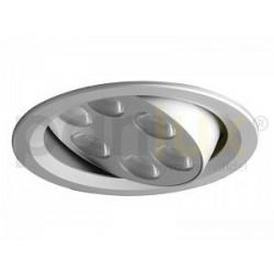 Bodové svítidlo Panlux VÝKLOPNÝ PODHLED KULATÝ 6LED, stříbrná (aluminium) - teplá bílá (KVL-6T/AL)