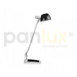 AKCE - Panlux GINEVRA UNO stolní lampička, černo-kouřová