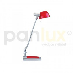 AKCE - Panlux GINEVRA UNO stolní lampička, červená