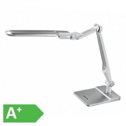 Moderní stmívatelná kancelářská lampička MATRIX LBL1207-STR - LED stolní lampa vč. šroubu, 32xSMD5730, 10W, 600lm, stříbrná