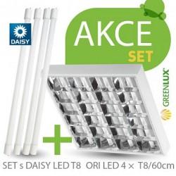 Akční set zářivkové svítidlio Greenlux SET ORI DAISY LED 4xT8/60cm (GXRP052)