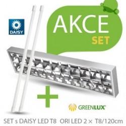 Akční set zářivkové svítidlo Greenlux SET ORI DAISY LED 2xT8/120cm (GXRP053)