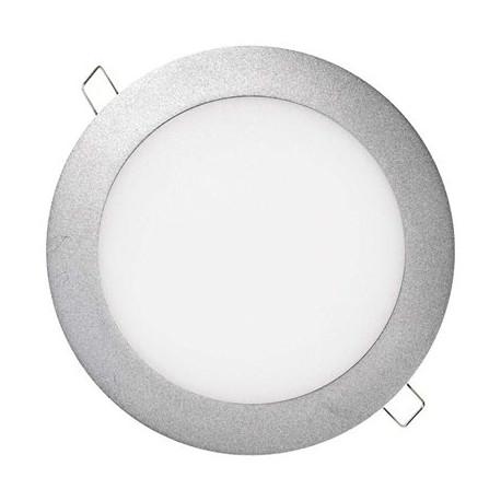 EMOS LED panel 175mm, kruhový vestavný stříbrný, 12W neutr. bílá