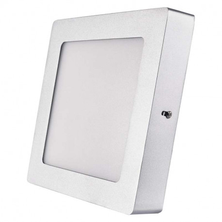 EMOS LED panel 170×170, přisazený stříbrný, 12W neutrální bílá