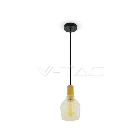 Glass Pendant Light Amber 2200K Ø135, VT-7130