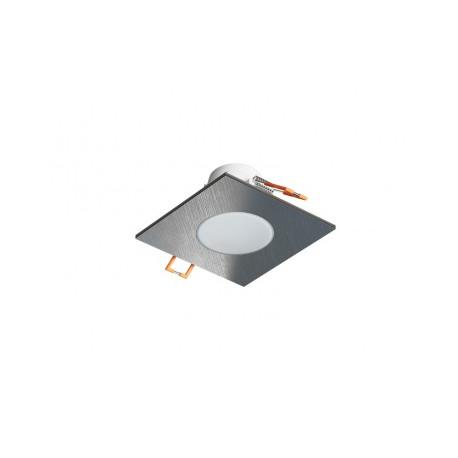 Panlux LED svítidlo vestavné SPOTLIGHT IP65 SQUARE 4000K stříbrná broušená