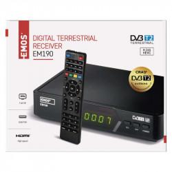 Set-top box EMOS EM190 HD HEVC H265 (DVB-T2)