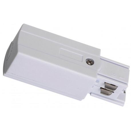 Greenlux koncový adaptér TRACK POWER CONNECTOR P-L 4W WHITE (GXTR011)