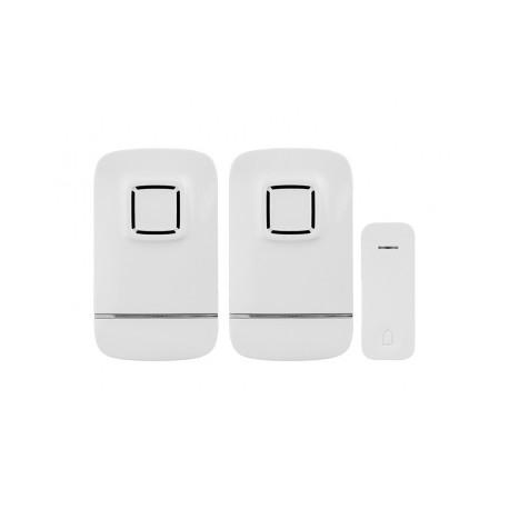 Bezdrátový zvonek Panlux PIEZO BELL - SET (2repro+1tlačítko) do zásuvky