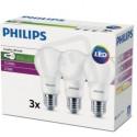 LED žárovky PHILIPS SET  3ks CorePro LEDbulb 8W 827 A60 E27 FR ND 806lm 2700k