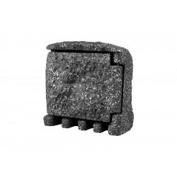 Panlux STONE 2ZT zahradní elektro- kámen (2x zásuvka,1x časovač, s přívodním kabelem) - šedá