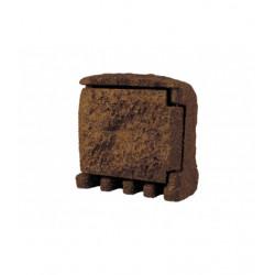 Panlux STONE 2ZT zahradní elektro- kámen (2x zásuvka,1x časovač, s přívodním kabelem) - hnědá